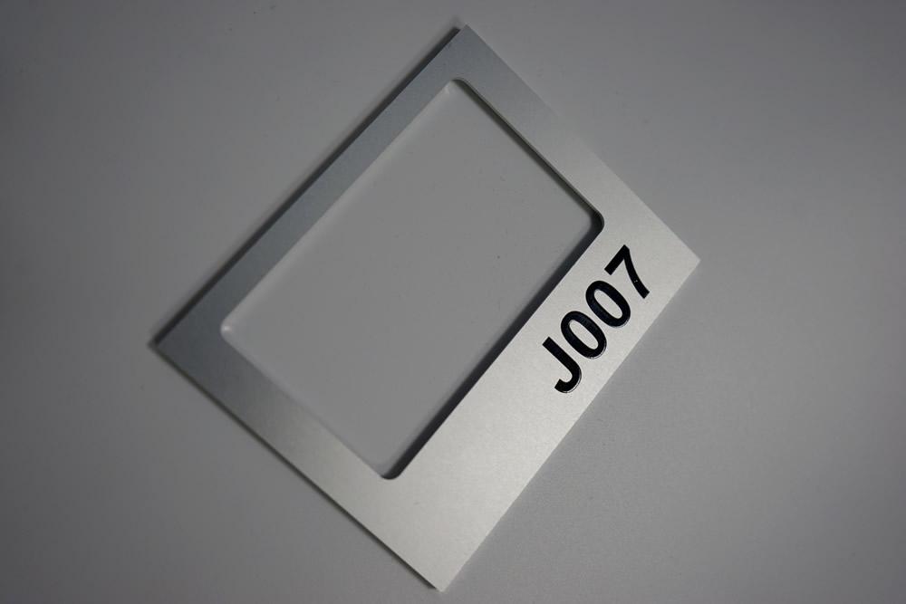 Porte étiquette aluminium