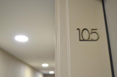 numéro d'appartement design