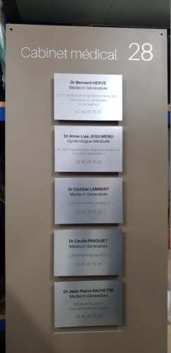 plaque medecin cabinet medical