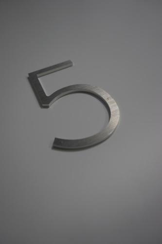 chiffre en aluminium brossé