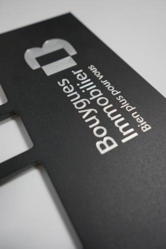 gravure sur aluminium laqué