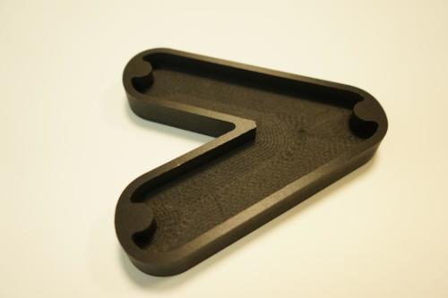 lettrage PVC 19mm noir pour enseigne lumineuse