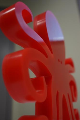 Plexi rouge 30mm