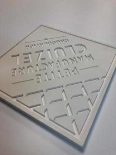 plaque gravée en PVC rigide