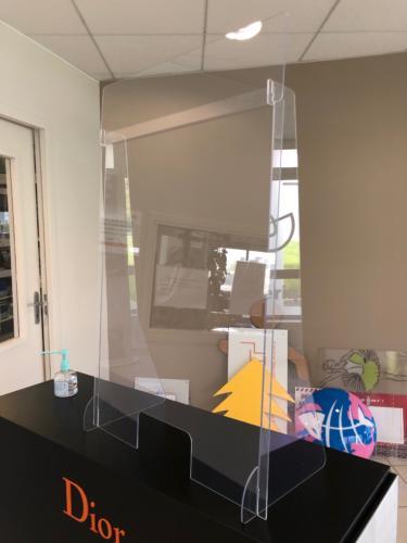 protection COVID comptoir plexi polycarbonate